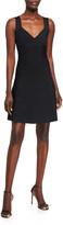 Herve Leger Icon Flare-Skirt Sleeveless Dress