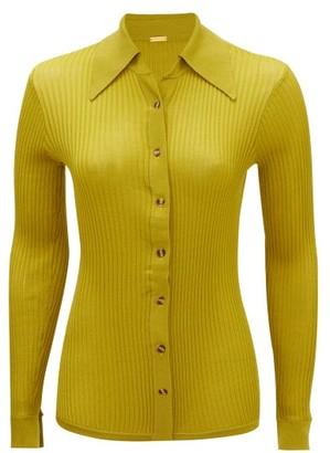 Dodo Bar Or Paya Rib-knitted Shirt - Dark Olive