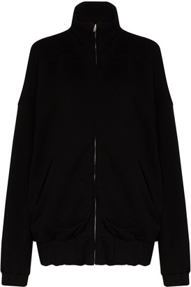 LES TIEN Zip-Up Cotton Sweatshirt