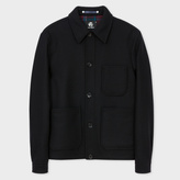 Men's Black Wool-Cashmere Chore Jacket