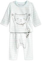 First Impressions 2-Pc. Cat T-Shirt & Pants Set, Baby Girls (0-24 months), Only at Macy's