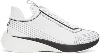 Pierre Hardy White and Black Vision Sneakers