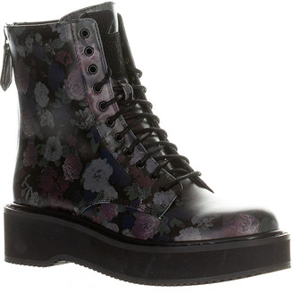 KENDALL + KYLIE Women's Casual boots BLACK - Black Floral Hunt Combat Boot - Women