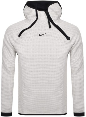 Nike Tech Logo Hoodie White