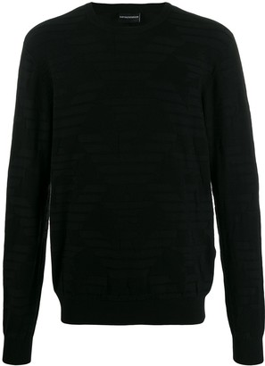 Emporio Armani Logo Patterned Sweater
