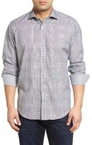 Bugatchi Men's Big & Tall Classic Fit Plaid Sport Shirt
