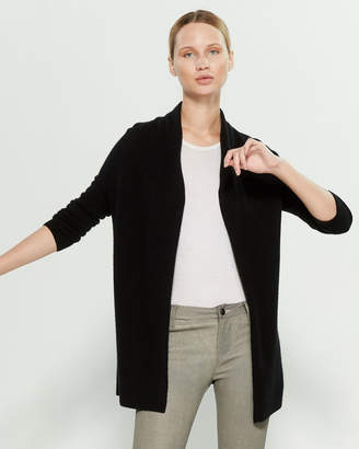 InCashmere In Cashmere Long Sleeve Cashmere Open Cardigan