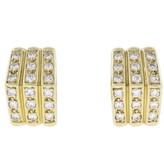Christian Dior Diamond 18K Yellow Gold Earrings