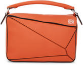 Loewe Orange Small Puzzle Bag