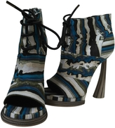 Balenciaga Blue Leather Sandals