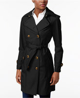 Jones New York Double-Breasted Belted Raincoat