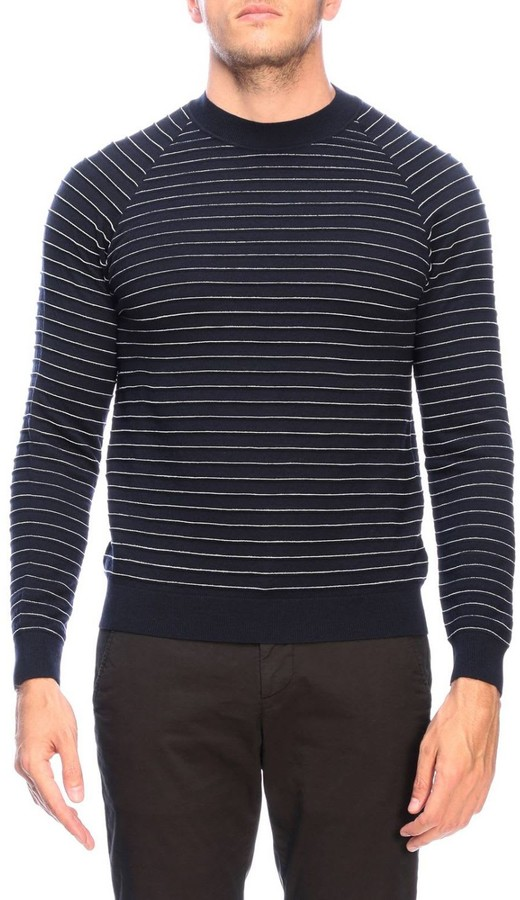 Giorgio Armani Sweater Striped Jacquard Pullover