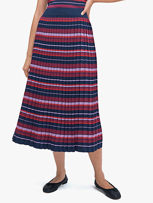 Kate Spade Striped Pleated Skirt