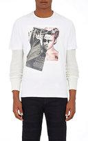 "Neil Barrett Men's ""Brad Bieber"" Jersey T-Shirt-WHITE"