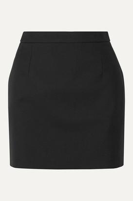 Saint Laurent Wool Mini Skirt - Black