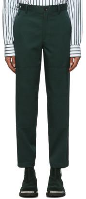 Lanvin Green Biker Trousers