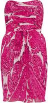 Strapless silk-chiffon dress