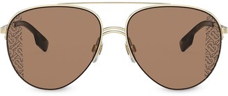 Burberry Aviator-Frame Sunglasses