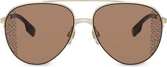 Burberry Eyewear Aviator-Frame Sunglasses