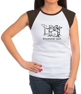 CafePress - Drummer Girl T-Shirt - Women's Cap Sleeve T-Shirt