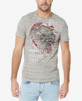 Buffalo David Bitton Men's Heathered Graphic-Print T-Shirt