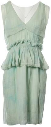 Zac Posen Green Silk Dresses