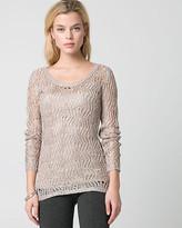 Le Château Sequin Scoop Neck Sweater