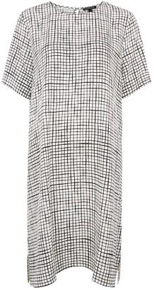 Eileen Fisher Checked Tencel-blend dress