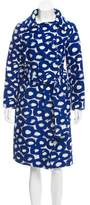Tsumori Chisato Belted Jacquard Overcoat w/ Tags