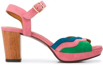 Chie Mihara Wooden Heeled Sandals