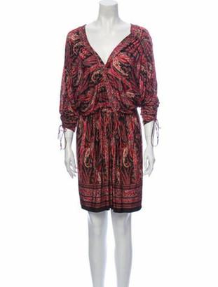 Isabel Marant Paisley Print Knee-Length Dress Red