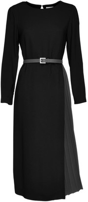 Fabiana Filippi Pleat-Skirt Belted Jersey Dress