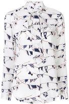 Equipment flag print shirt - women - Silk - XS