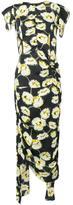 Marni floral print draped dress