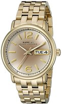 Marc by Marc Jacobs Women's MBM3429 Fergus Analog Display Analog Quartz Gold Watch