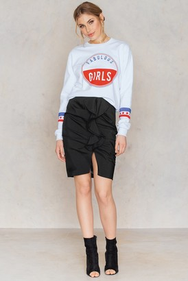 NA-KD Mid Length Frill Skirt