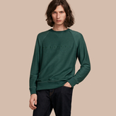 Burberry Embroidered Motif Cotton-blend Jersey Sweatshirt