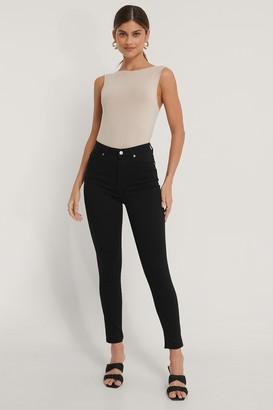 NA-KD Organic Skinny High Waist Open Hem Jeans