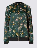 Marks and Spencer Floral Print Bomber Jacket