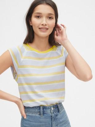 Gap Striped Sleeveless Raglan T-Shirt