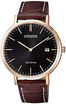 Citizen Eco-drive Date Leather Strap Watch