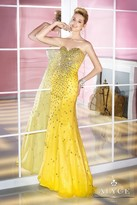 Alyce Paris - Bedazzled Strapless Sweetheart Long Mermaid Dress 6205