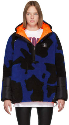Marcelo Burlon County of Milan Black and Blue Camouflage Bomber Jacket