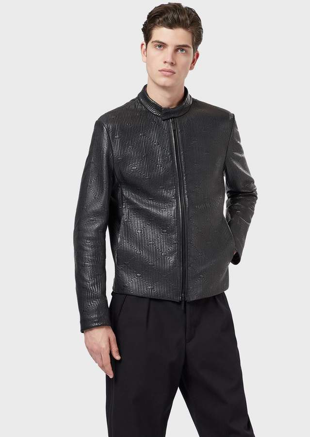 1af67cbc06 Jacket In Lambskin Nappa Leather With Quilted Motif