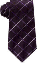 Sean John Men's Texture Window Pane Silk Tie