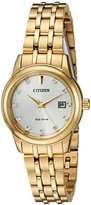 Citizen Women's 'PAIRS' Quartz Stainless Steel Casual Watch, Color:Gold-Toned (Model: EW2392-54A)