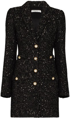 Alessandra Rich Metallic Tweed Mini Dress