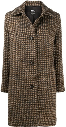 A.P.C. Woven Check single-breasted coat