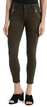 Mavi Jeans Juliette Cargo-Style Twill Jeans in Dark Jade