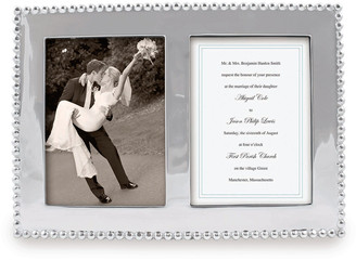 """Mariposa Pearled Double Picture Frame, 5""""x 7"""""""